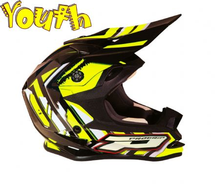 Progrip 3009 YOUTH Helmet Flo Yellow Black